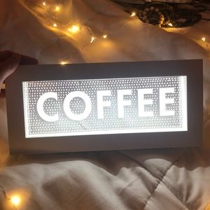 Light Up Coffee Sign